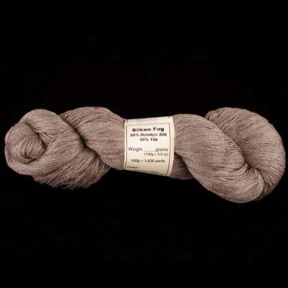 Silken Fog - Silk-Blend Yarn (55% Bombyx Silk & 45% Yak), 30/2, lace/thread weight: click to enlarge