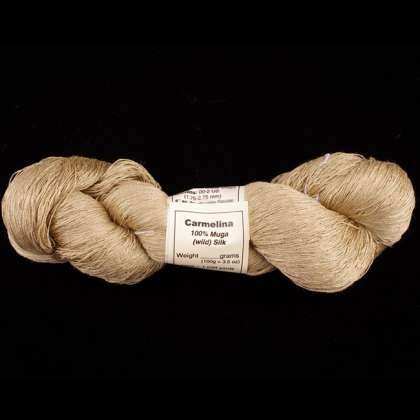 Carmelina - 100% Muga (Wild Silk) Spun Yarn, 30/2, lace/thread weight: click to enlarge