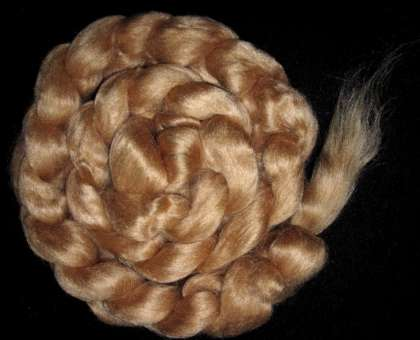 Eri Silk (red) Roving/Sliver (Wild Silk) - 200g: click to enlarge