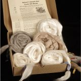 Kit - Fiber - Spinner's Sampler Box-Exotic Silk-Blends