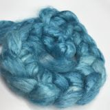 "Limited Edition ""Azure"" - Hand-dyed Tussah Roving/Sliver 25g"