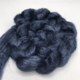 "Limited Edition ""Dark Blue Jeans"" - Hand-dyed Tussah Roving/Sliver 25g"