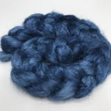 "Limited Edition ""Endless Sea"" - Hand-dyed Tussah Roving/Sliver 25g"