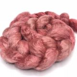"Limited Edition ""Kisses"" - Hand-dyed Tussah Roving/Sliver 25g"