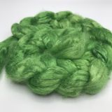 "Limited Edition ""Leap Frog"" - Hand-dyed Tussah Roving/Sliver 25g"