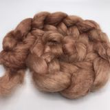 "Limited Edition ""Red Canyon"" - Hand-dyed Tussah Roving/Sliver 25g"