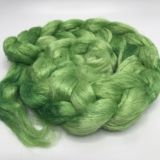 "Limited Edition ""Spring Grasses"" - Hand-dyed Tussah Roving/Sliver 25g"