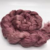 "Limited Edition ""Star Ruby"" - Hand-dyed Tussah Roving/Sliver 25g"