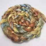 Salt Spring Island Limited Edition 'Rainbow Trout' - Bombyx Silk Roving/Sliver 25g