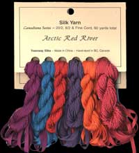 Canadiana Series – Arctic Red River: Bordello 20, Mardi Gras 205, Intrepid 48, Pomegranate 12, Mermaid Tears 14, Wild Bordeaux 209