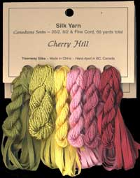 Canadiana Series – Cherry Hill: Bordello 20, Star Ruby 223, Ballet Slippers 22, Golden Aspen 201, Tequila Sunrise 951, Pheasant Green 952