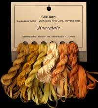 Canadiana Series – Honeydale: Sundance 36, Maize 37, Narcissus 38, Golden Aspen 201, Electric Dijon 202, Amber 9514