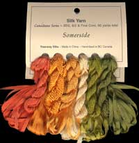 Canadiana Series – Somerside: Pheasant Green 952, Tequila Sunrise 951, Narcissus 38, Maize 37, Sundance 36, Persimmon 9513