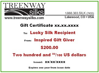 image of Treenway Silks Gift Certificate