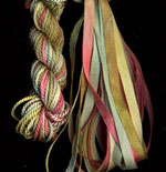 montano series fine cord silk thread and 3.5mm silk ribbon in auckland