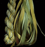 montano series fine cord silk thread and 3.5mm silk ribbon in meadow