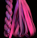 montano series fine cord silk thread and 3.5mm silk ribbon in orchid