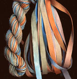 montano series fine cord silk thread and 3.5mm silk ribbon in taos