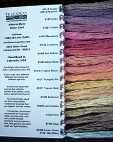image of thread color card