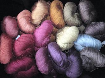 image of beautiful silk yarns