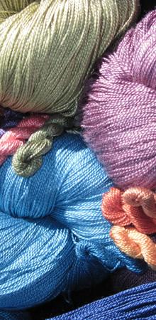 silk yarn and thread