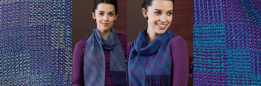 Poly Chrome Crackle Scarves Kit