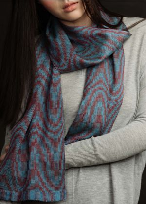 "Kit - Weaving - Limited Edition ""Jin Silk"" Scarf by Bonnie Inouye: click to enlarge"