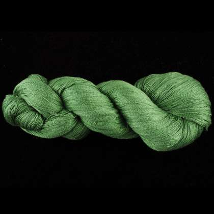 Color Now! - Kiku Silk Yarn -  211 Triumph Green: click to enlarge