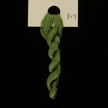 317 Green Tourmaline - Thread, Tranquility (fine cord): click to enlarge