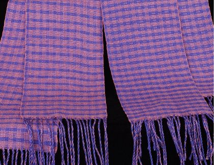 Kit - Weaving - 2 Skeins=2 Scarves; 'Three of a Kind' Color & Weave: click to enlarge