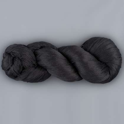 Color Now! - Alirio-Thinner Silk Noil Yarn -   57 Raven Black: click to enlarge