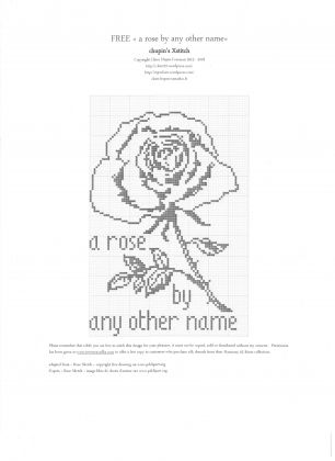 "65 Roses® Chart ""A Rose by Any Other Name"": click to enlarge"