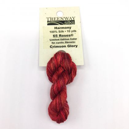 65 Roses® 'Crimson Glory' - Thread, Harmony (6-strand silk floss): click to enlarge