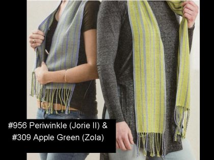 "Kit - Rigid Heddle Weaving - ""Light & Dark Fibonacci Stripes"" Silk Scarves: click to enlarge"