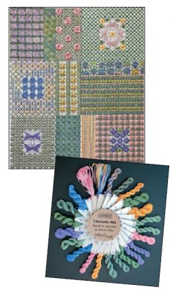 Thread Kit - DebBee's Designs - Baskets, Blooms & Butterflies: click to enlarge