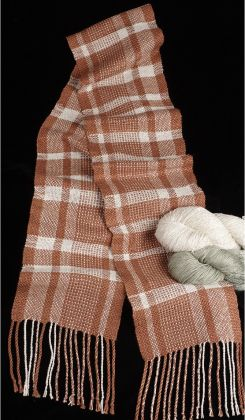 "Kit - Rigid Heddle Weaving - ""Big Plaid"" Silk Scarf: click to enlarge"