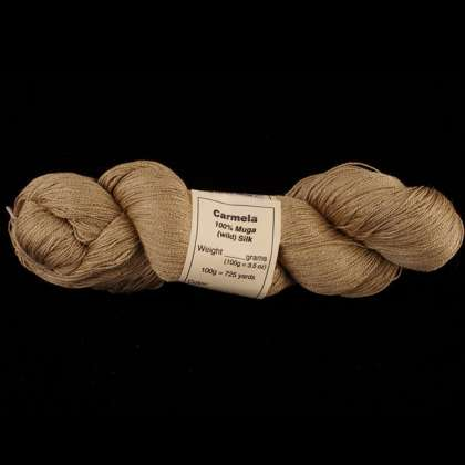 Carmela - 100% Muga (Wild Silk) Spun Yarn, 15/2, lace weight: click to enlarge