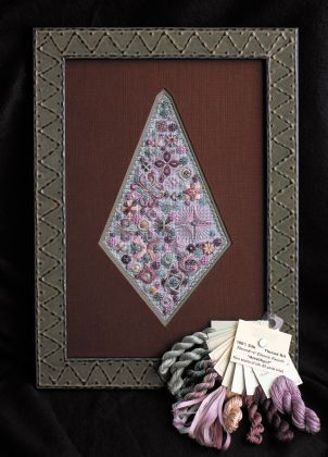 "Thread Kit - Threedles Needleart Design's - Classic Facets ""Amethyst"": click to enlarge"