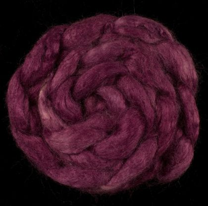 Gypsy Passion - Hand-dyed Tussah Roving/Sliver 25g: click to enlarge