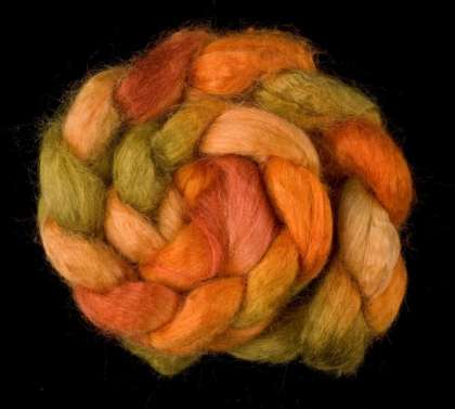 Salt Spring Island 'Southey Point' - Tussah Silk Roving/Sliver 25g: click to enlarge