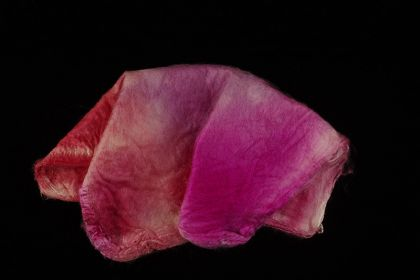 Hand-dyed Silk Hankies - Hugs & Kisses: click to enlarge