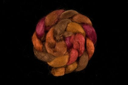 Salt Spring Island 'Musgrave' - Tussah Silk Roving/Sliver 25g: click to enlarge