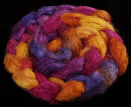 Salt Spring Island 'Booth Bay' - Tussah Silk Roving/Sliver 25g: click to enlarge