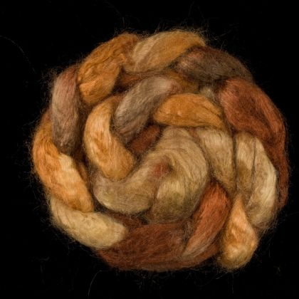 Salt Spring Island 'Ruckle Park' - Tussah Silk Roving/Sliver 25g: click to enlarge