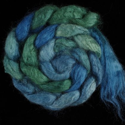 Salt Spring Island 'Vesuvius Bay' - Tussah Silk Roving/Sliver 25g: click to enlarge