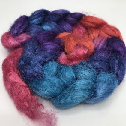 Salt Spring Island Limited Edition 'Unicorn Tail' - Tussah Silk Roving/Sliver 25g: click to enlarge