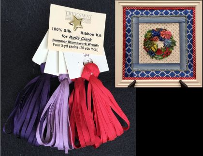 "Thread Kit - Kelly Clark ""Summer Patriotic Wreath"": click to enlarge"