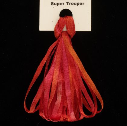 65 Roses® 'Super Trouper' -  3.5mm Silk Ribbon: click to enlarge