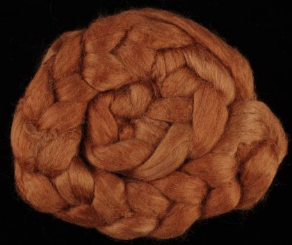 "Limited Edition ""Pennies from Heaven"" - Hand-dyed Tussah Roving/Sliver 25g: click to enlarge"