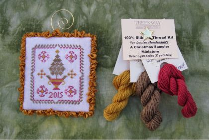 "Thread Kit - Louise Henderson ""A Christmas Sampler Miniature"": click to enlarge"